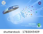 set of face shield medical... | Shutterstock .eps vector #1783045409