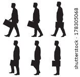 business man walking | Shutterstock .eps vector #178305068