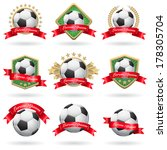 set of soccer labels and emblems | Shutterstock .eps vector #178305704