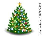 christmas fir tree winter icon   Shutterstock . vector #1783086179