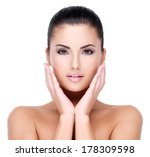 beautiful face of young girl ... | Shutterstock . vector #178309598