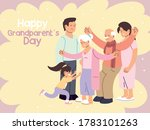happy family  parents ... | Shutterstock .eps vector #1783101263