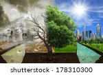 two options   sides   eco... | Shutterstock . vector #178310300