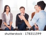 sharing his problems with... | Shutterstock . vector #178311599