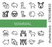 set of mammal icons. such as... | Shutterstock .eps vector #1783148810