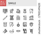 Smile Simple Icons Set....