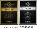 set of two certificates.... | Shutterstock .eps vector #178316159
