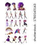 lgbt beautiful characters happy ...   Shutterstock .eps vector #1783165163