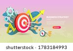 business strategy concept with... | Shutterstock .eps vector #1783184993