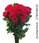 flower bouquet from red roses...   Shutterstock . vector #178318610