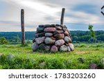 Stone Altar In Nature On Bright ...