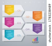 5 steps timeline infographic... | Shutterstock .eps vector #1783238489