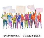 hand drawn watercolor... | Shutterstock . vector #1783251566