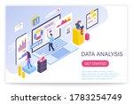 data analysis process  big data ...   Shutterstock . vector #1783254749
