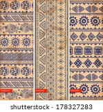 tribal vintage ethnic set of... | Shutterstock .eps vector #178327283