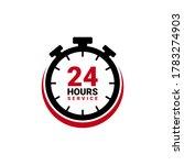twenty four hour service vector ... | Shutterstock .eps vector #1783274903