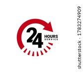 twenty four hour service vector ... | Shutterstock .eps vector #1783274909
