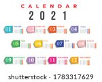 2021 Calendar Design. Set Of 12 ...