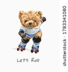 let's roll slogan with cute...   Shutterstock .eps vector #1783341080