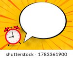 alarm clock icon with speech... | Shutterstock .eps vector #1783361900