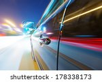 car on the road with motion... | Shutterstock . vector #178338173