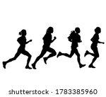 young athletes run a marathon.... | Shutterstock . vector #1783385960