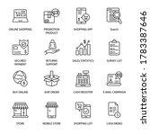 online shopping and e commerce... | Shutterstock .eps vector #1783387646
