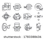 360 degree view virtual tour... | Shutterstock .eps vector #1783388636