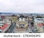 Aerial View From Above Of Lviv...