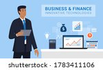 business and finance innovative ... | Shutterstock .eps vector #1783411106
