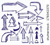vector idea sketch background... | Shutterstock .eps vector #178342370