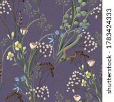 seamless pattern with wild... | Shutterstock .eps vector #1783424333