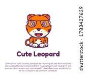 cute leopard logo template.... | Shutterstock .eps vector #1783427639