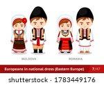 moldova  romania. men and women ... | Shutterstock .eps vector #1783449176