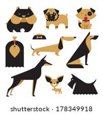 animal,boxer,breed,bulldog,chihuahua,cute,dachshund,design,dobermann,dog,drawing,german,good,icons,illustration