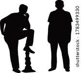 two men body silhouette vector   Shutterstock .eps vector #1783499330