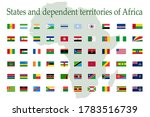 a set of african flag icons on... | Shutterstock .eps vector #1783516739
