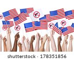 diversity of hands holding gun... | Shutterstock . vector #178351856