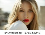 fashion photo of blonde beauty... | Shutterstock . vector #178352243