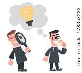 businessman looking other idea   Shutterstock .eps vector #178353233