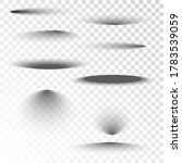 set of transparent oval shadow... | Shutterstock .eps vector #1783539059
