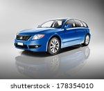 3d Generic Blue Family Car