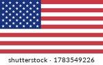 usa national flag. vector... | Shutterstock .eps vector #1783549226