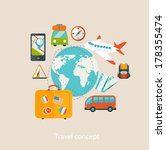 travel mobile ui applications... | Shutterstock .eps vector #178355474