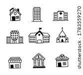 set of buildings doodle icon... | Shutterstock .eps vector #1783559270