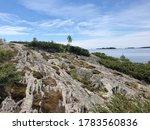 Rugged Island With Rocky...