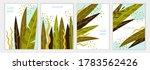 tropical leaves. set of... | Shutterstock .eps vector #1783562426