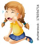 illustration of a little girl... | Shutterstock .eps vector #178356716