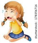 illustration of a little girl... | Shutterstock .eps vector #178356716