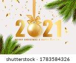 happy new year 2021. hanging... | Shutterstock .eps vector #1783584326